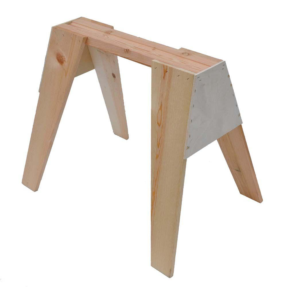 Signature Development 29 in. Wooden Sawhorse-378739 - The Home Depot
