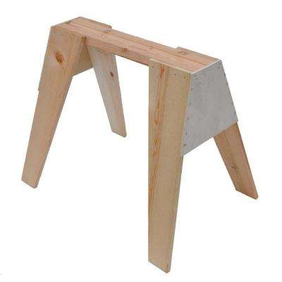 29 in. Wooden Sawhorse