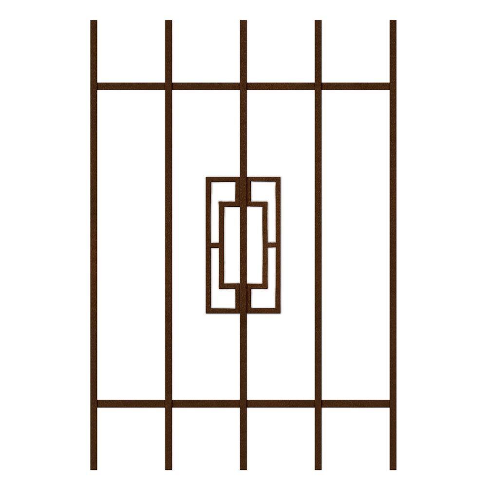 Unique Home Designs Modern Trifecta 24 in. x 36 in. Copper 5-Bar Window Guard-DISCONTINUED