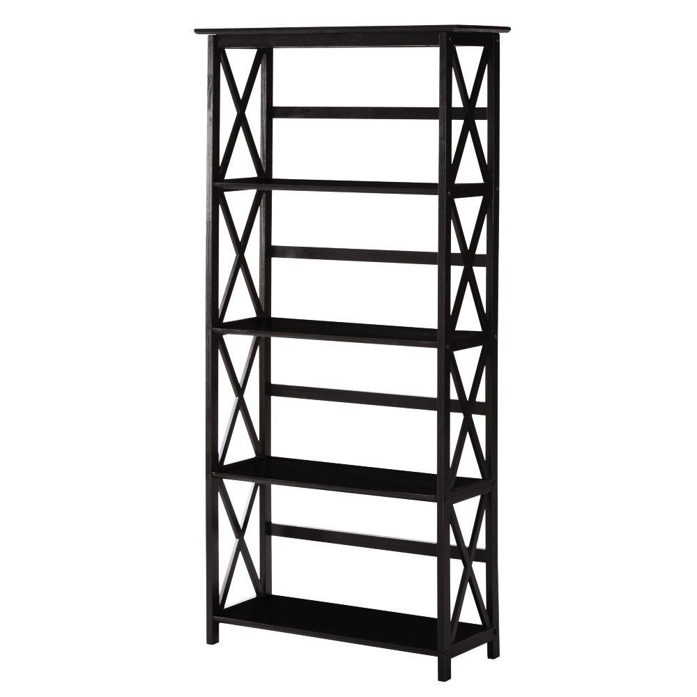 Casual Home Montego Black Open Bookcase