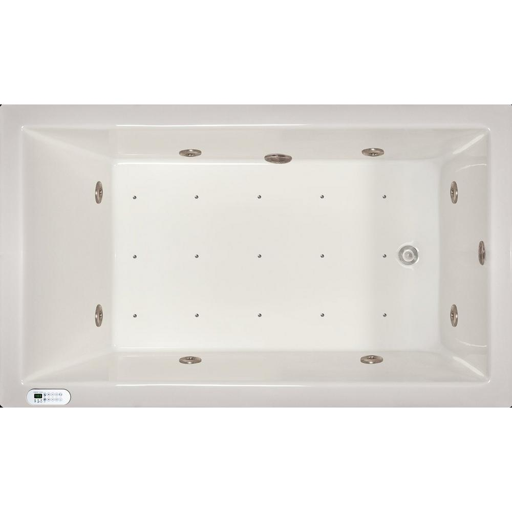 Pinnacle 6 ft. Left Drain Drop-In Whirlpool and Air Bath Tub in ...