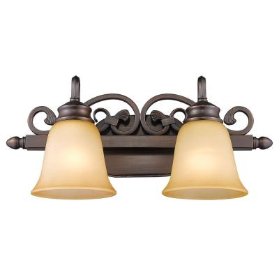 Belle Meade Collection 2-Light Rubbed Bronze Bath Vanity Light