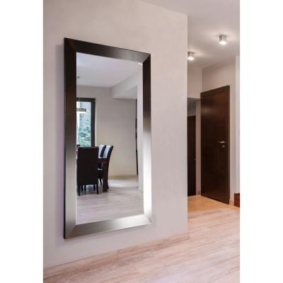 Oversized Rectangle Silver Modern Mirror (68.5 in. H x 33.5 in. W)