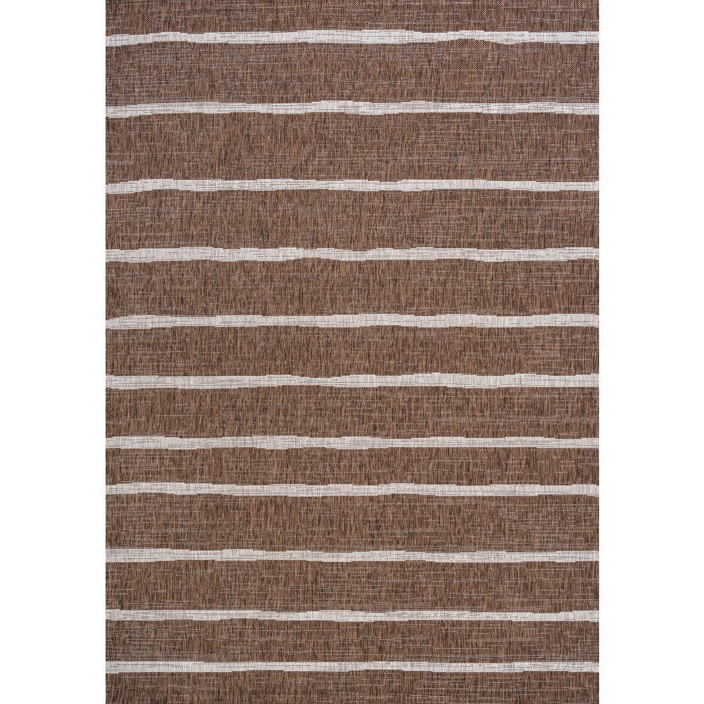 Colonia Berber Stripe Brown/Beige 5 ft. x 8 ft. Indoor/Outdoor Area Rug