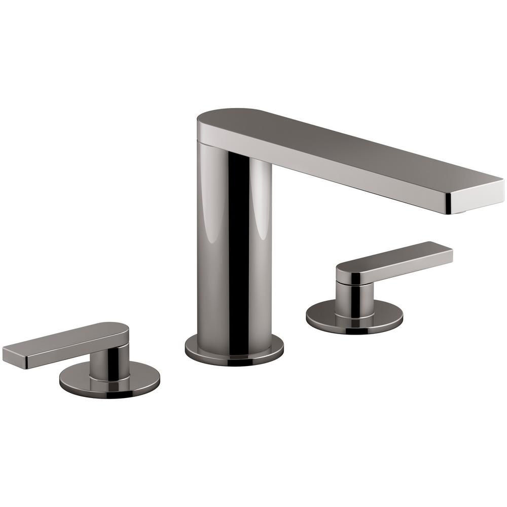 kohler roman tub faucet with hand shower. KOHLER Composed 2 Handle Deck Mount Roman Tub Faucet with Lever Handles in  Titanium