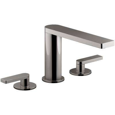 Composed 2-Handle Deck-Mount Roman Tub Faucet with Lever Handles in Titanium
