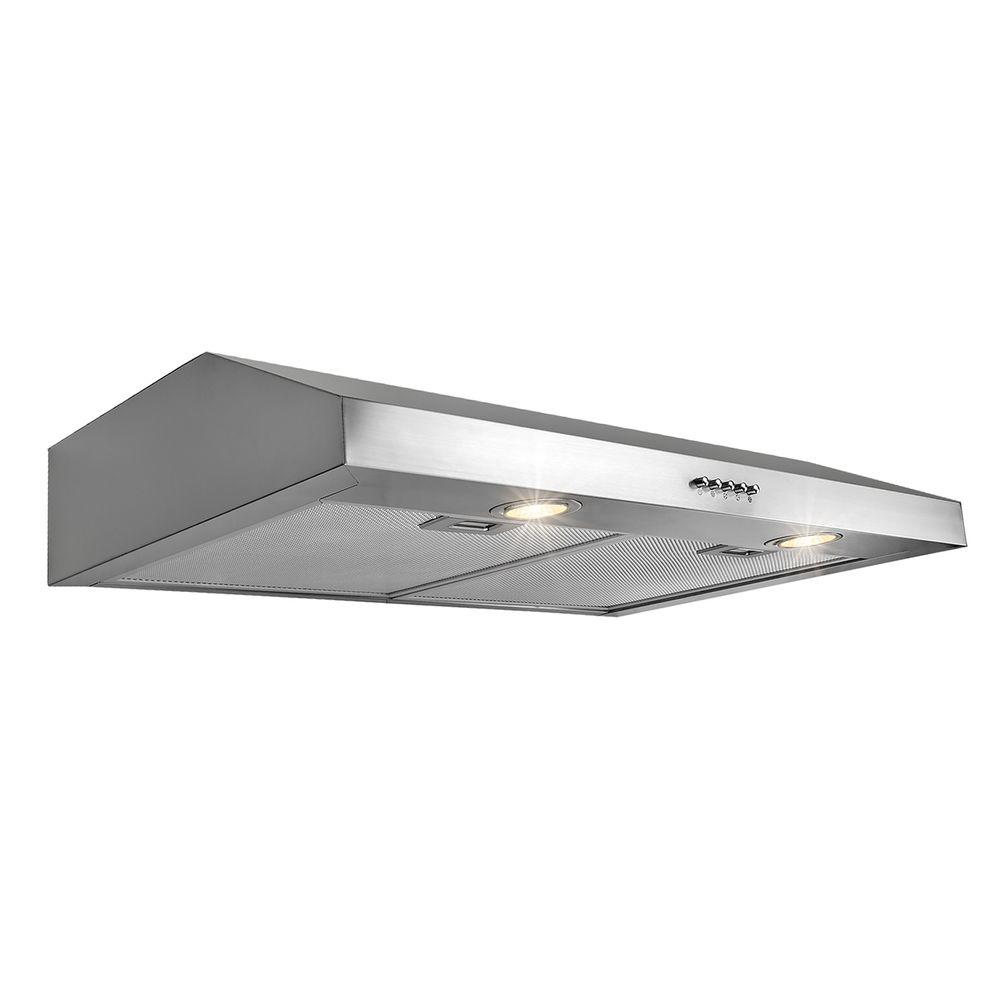 AKDY 30 In. Kitchen Under Cabinet Range Hood In White RH0038   The Home  Depot