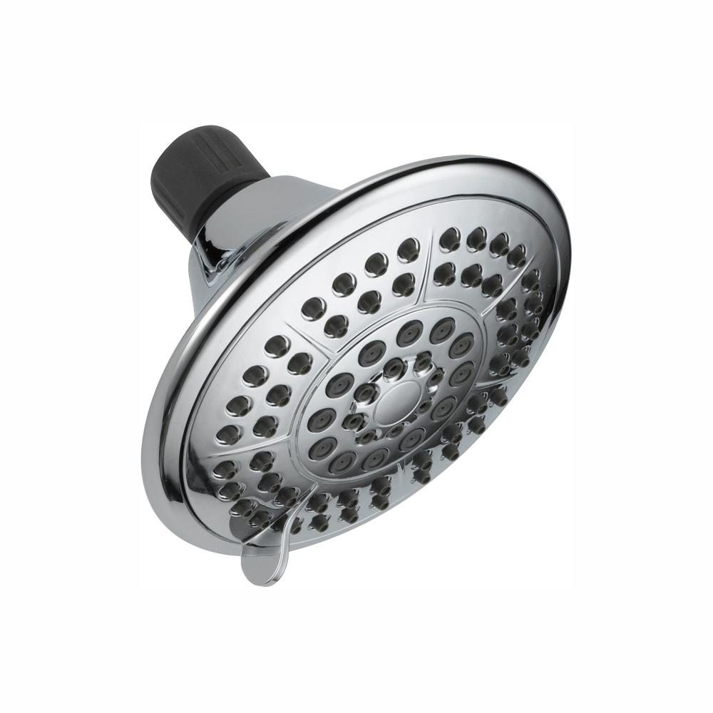 Delta 5-Spray 5 in. Showerhead with Pause in Chrome
