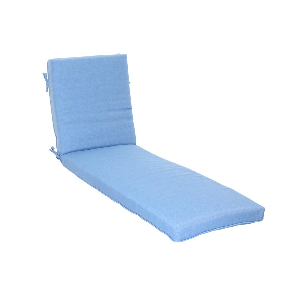 Periwinkle Outdoor Chaise Lounge Cushion