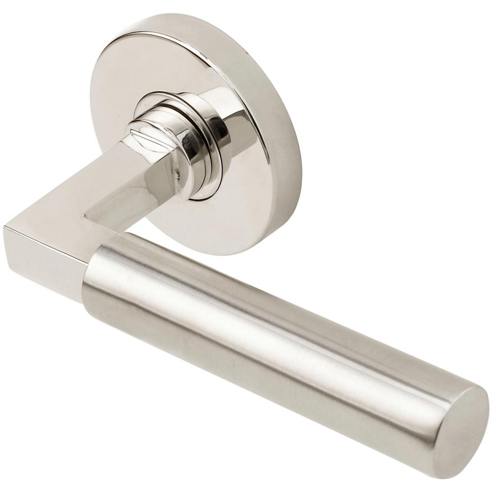Aurora Series Round Stainless Steel Split Polished-Satin Left Handed Single