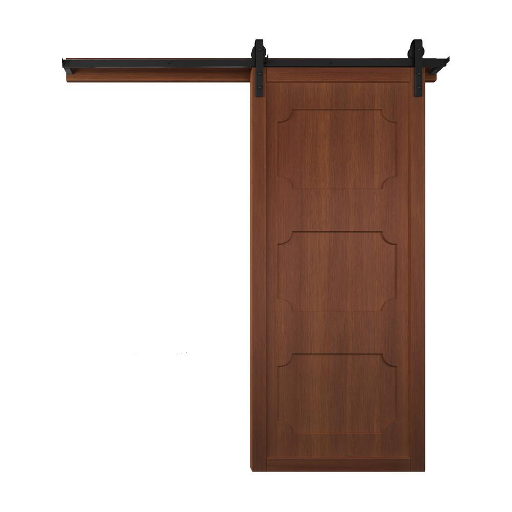 42 in. x 84 in. The Harlow III Terrace Wood Barn Door with Sliding Door Hardware Kit