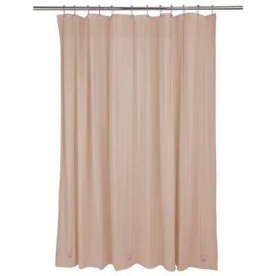 Heavy Grommet Shower Liner in Taupe