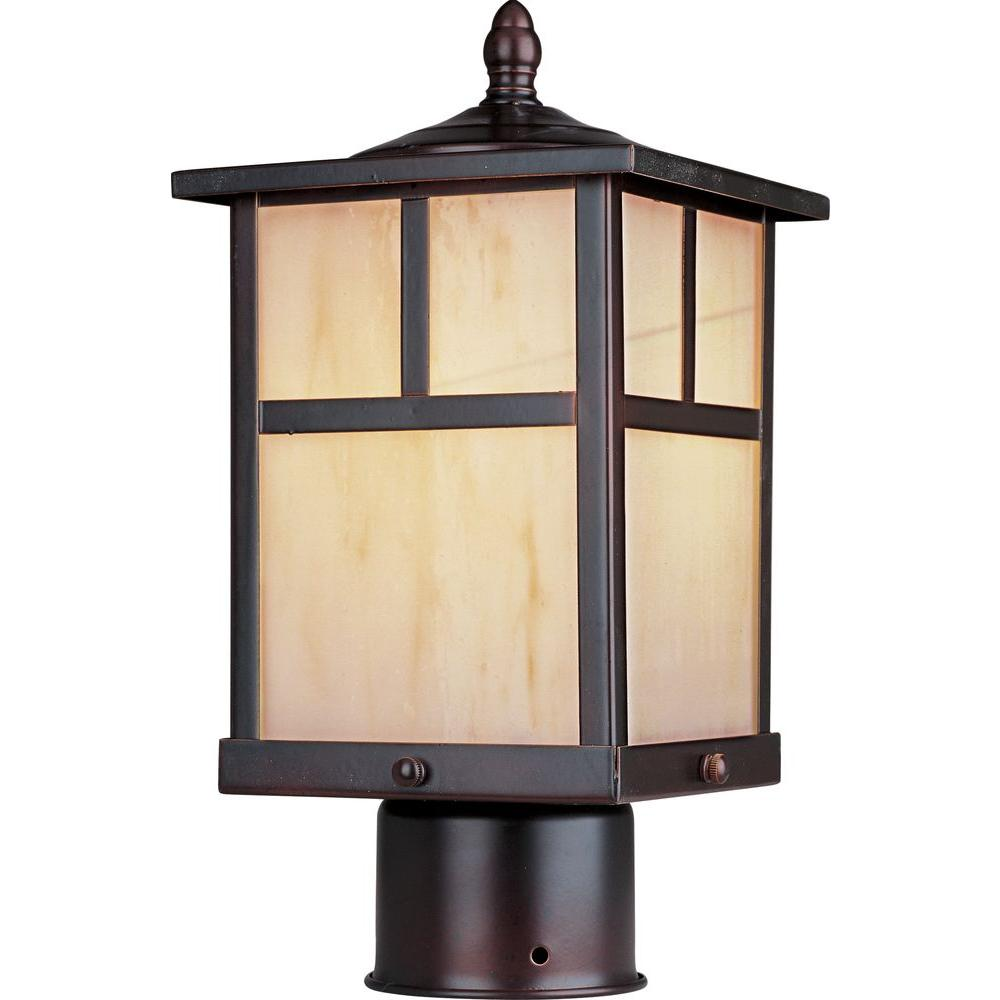 Maxim Lighting Coldwater 1-Light Burnished Outdoor Pole/Post Mount