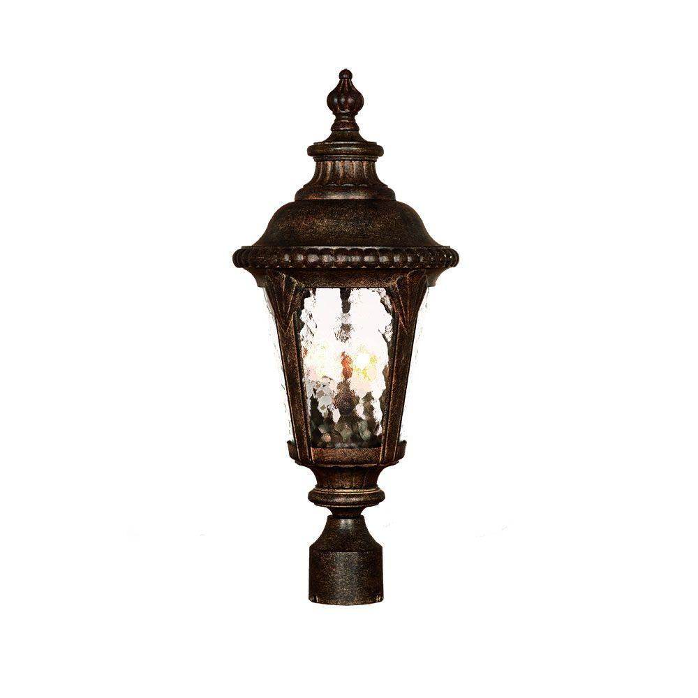 Acclaim Lighting Surrey Collection 3-Light Outdoor Black Coral Post Light Fixture