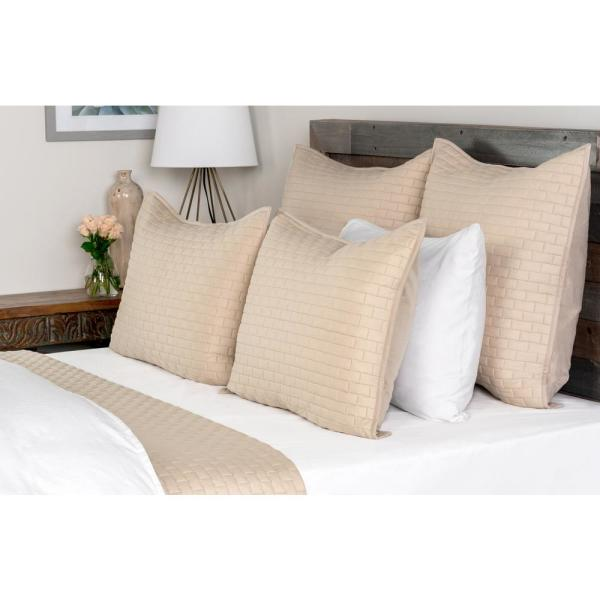 undefined Brick Natural Solid King Coverlet