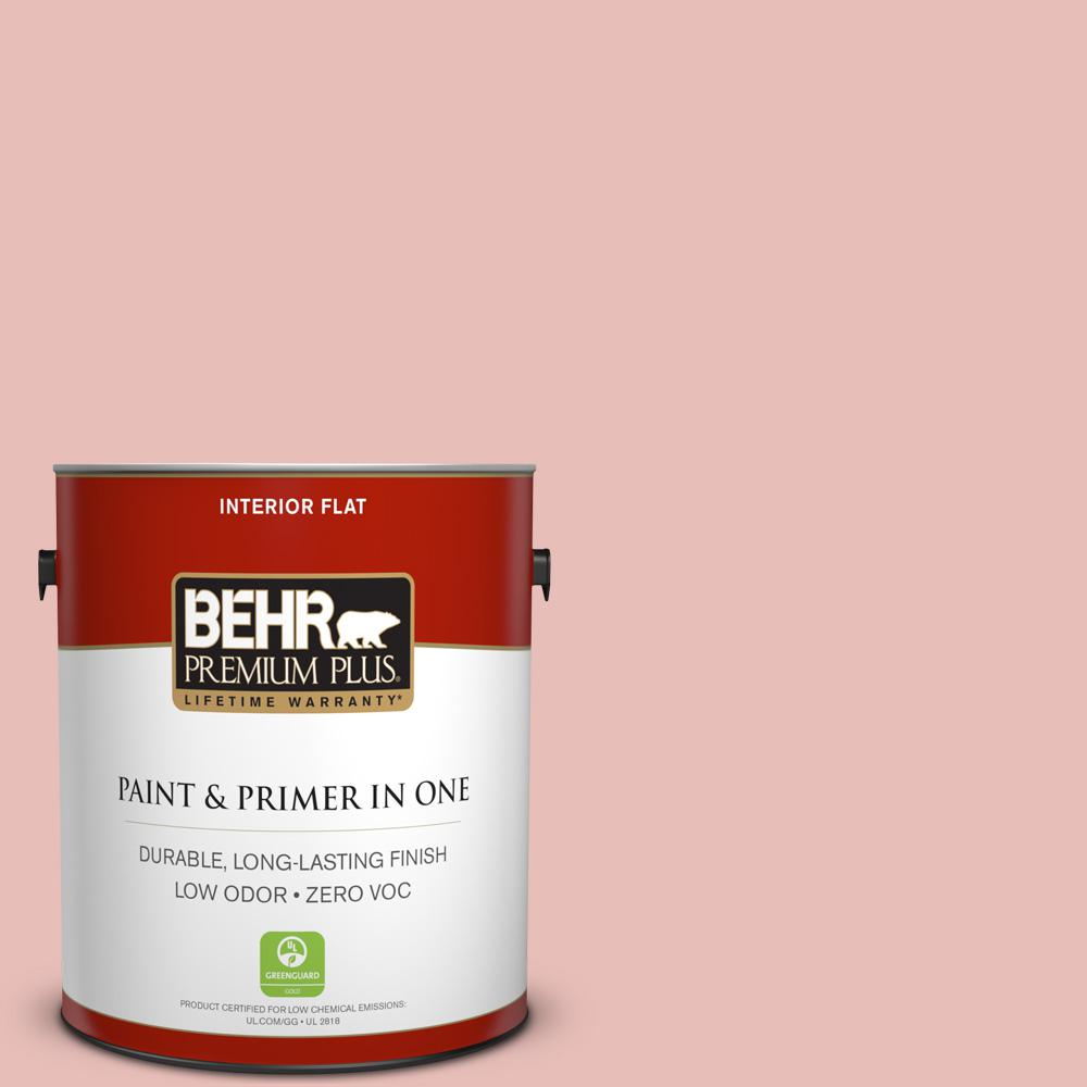1 gal. #T18-01 Positively Pink Zero VOC Flat Interior Paint