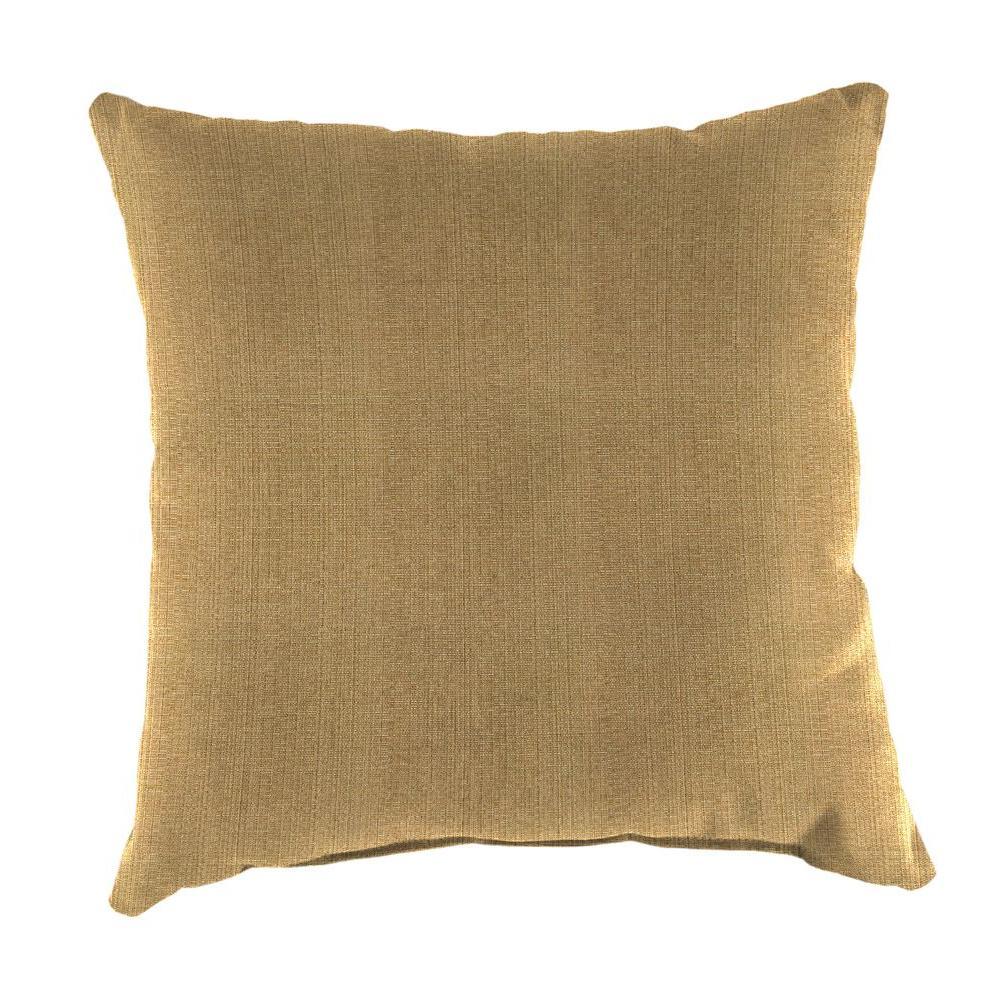 Jordan Manufacturing Sunbrella Linen Straw Square Outdoor Throw Pillow