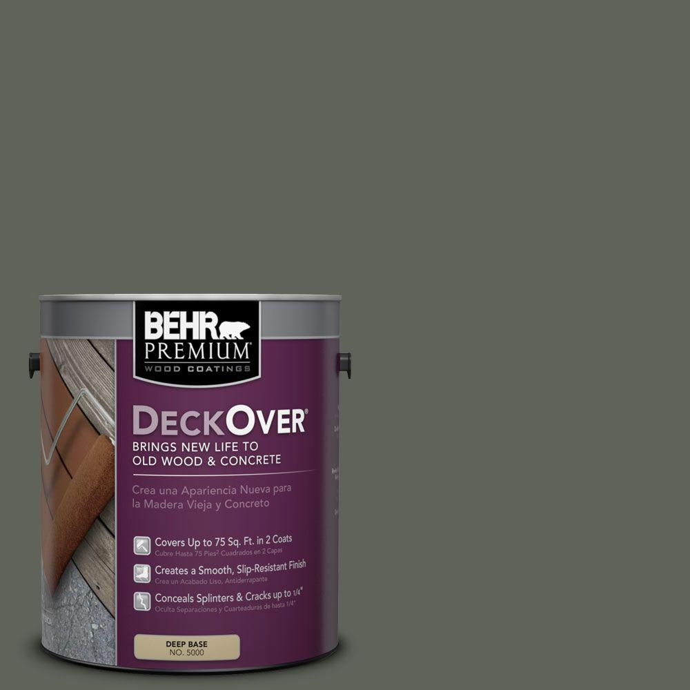 BEHR Premium DeckOver 1 gal. #SC-131 Pewter Solid Color Exterior Wood and Concrete Coating