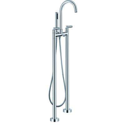 2-Handle Freestanding Roman Tub Faucet with Handshower in Chrome