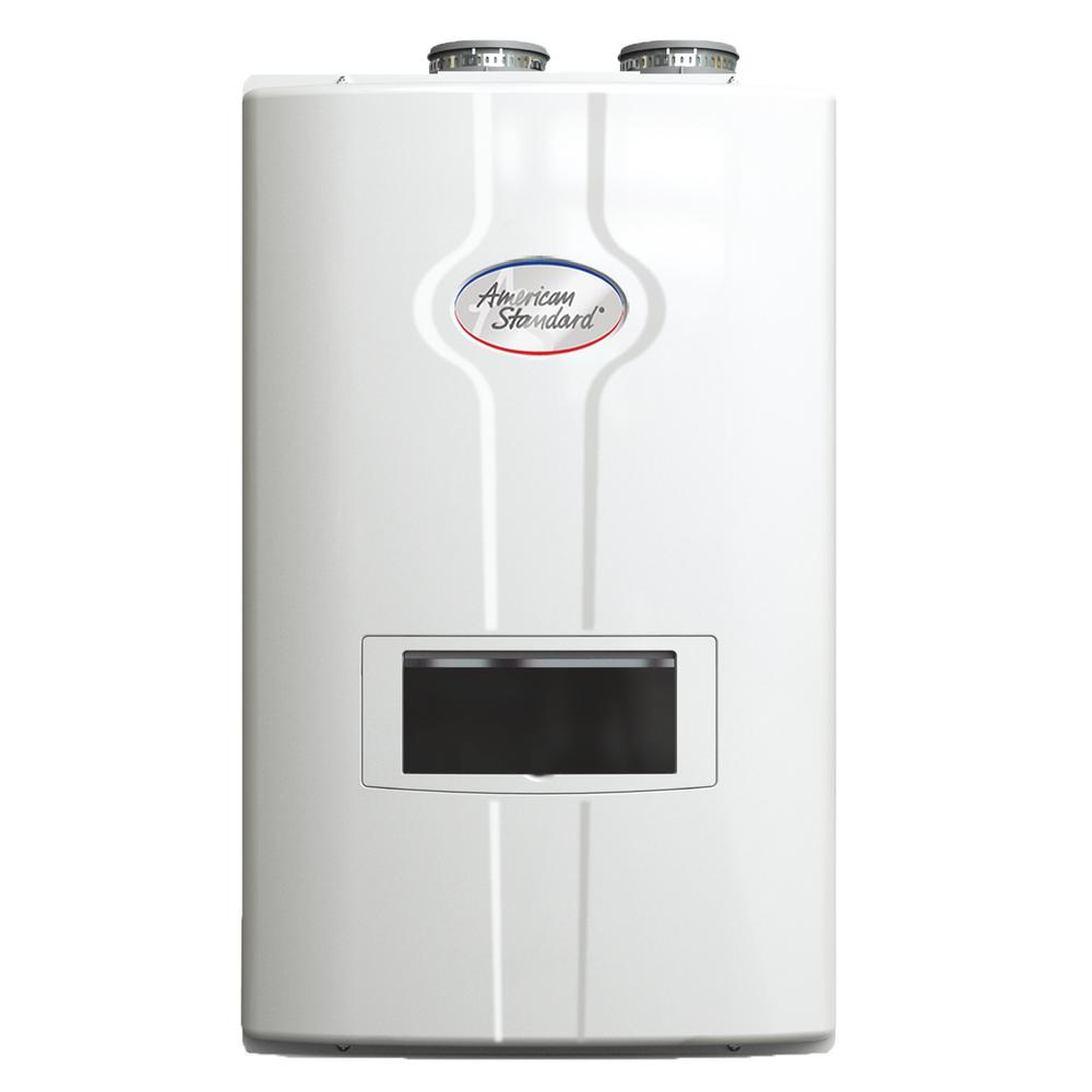 american standard 110 gpm ultra low knox high efficiency condensing natural gas indoor tankless water heater