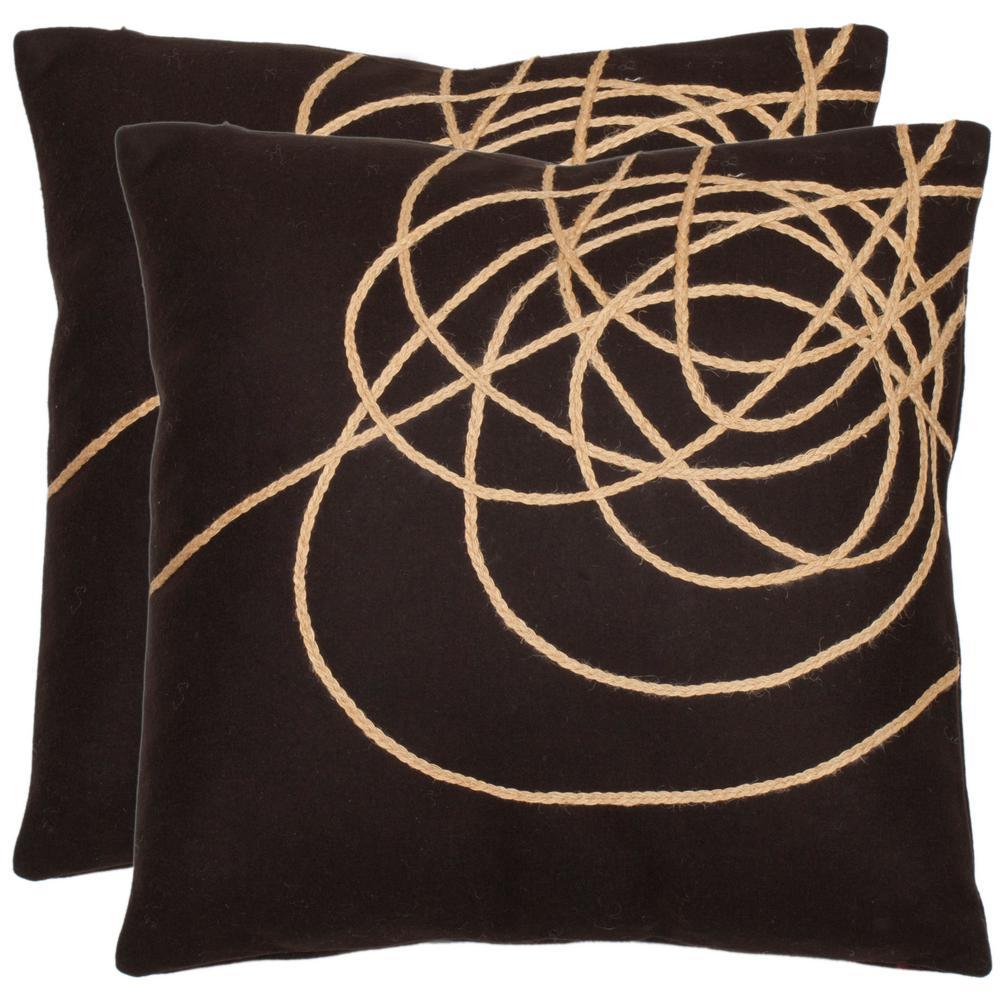 Coiled Darter Modern Art Pillow (2-Pack)