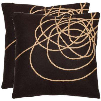 Coiled Darter Modern Art Pillow (2-Pack)