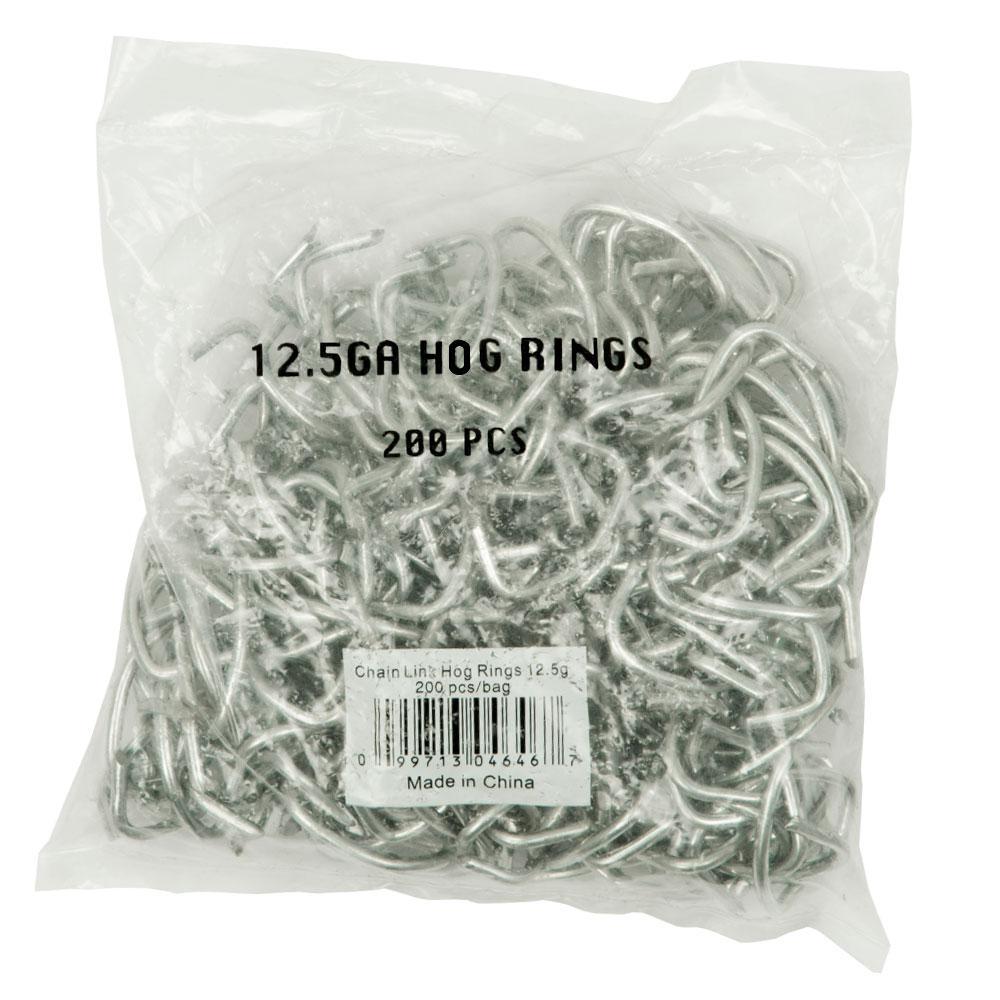 12.5-Gauge Chain Link Hog Rings (200-Pack)