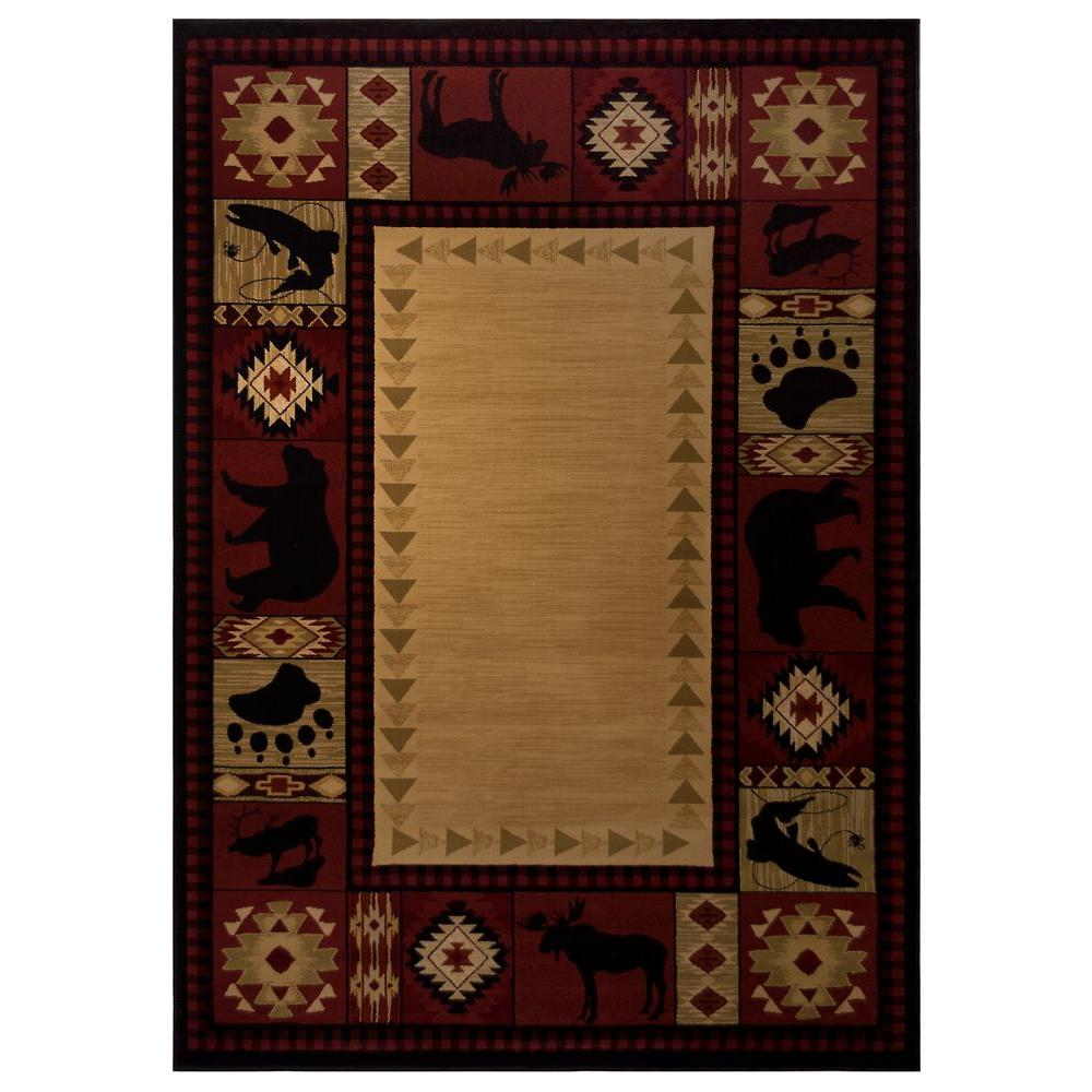 Balta US Northern Territory Red 6 ft. 6 in. x 9 ft. 6 in. Area Rug