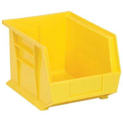 Ultra Series Stack and Hang 6 Gal. Storage Bin in Yellow (6-Pack)