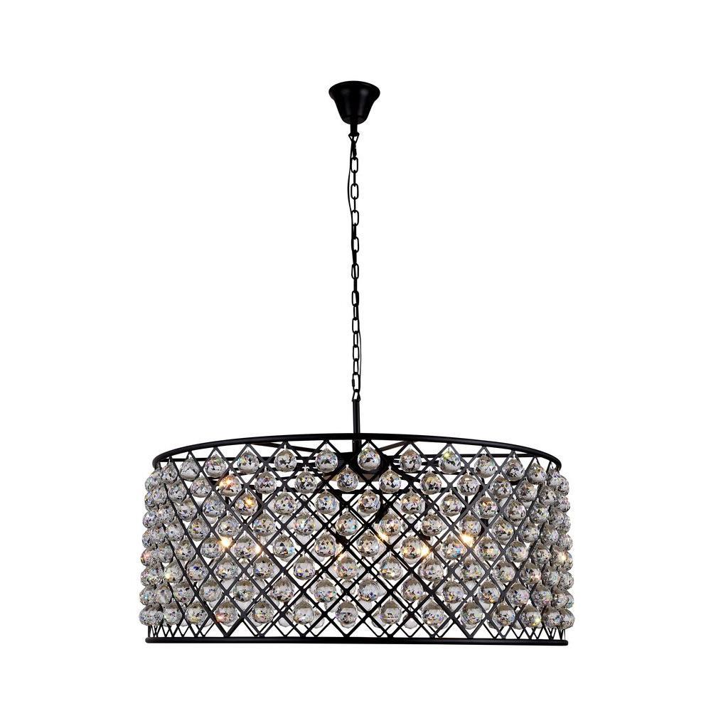 Madison 10-Light Mocha Brown Royal Cut Crystal Clear Pendant