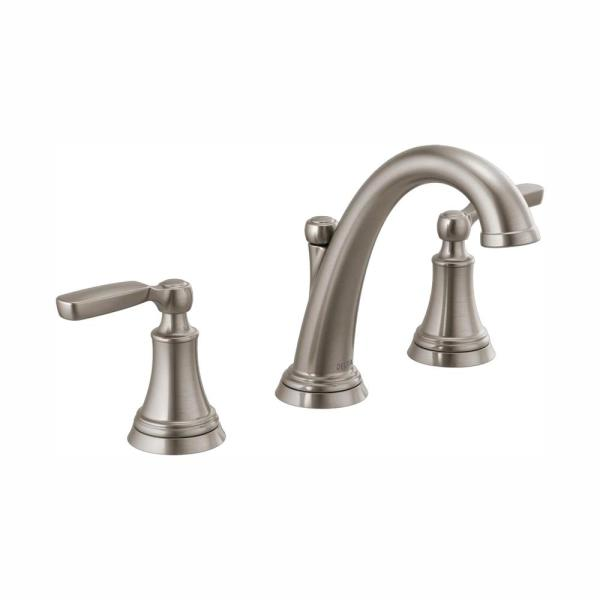 Woodhurst 8 in. Widespread 2-Handle Bathroom Faucet in Stainless