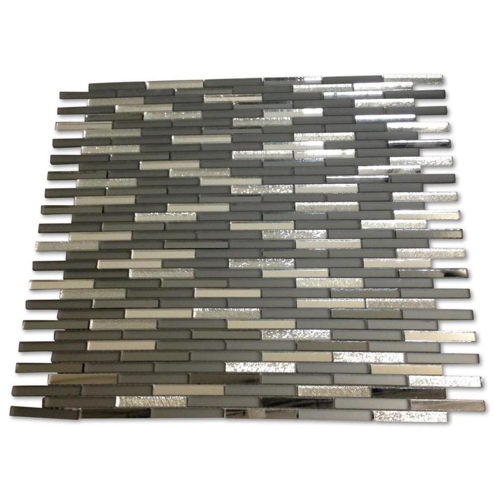 Specchio Metallic Night Terrace Glass Mirror Tile - 3 in. x 6 in. Tile Sample
