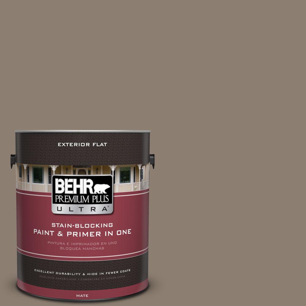 1-gal. #BNC-36 Restful Brown Flat Exterior Paint