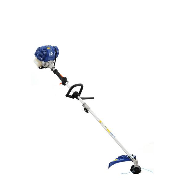 Badger 31 Cc Gas 4 Cycle 2 In 1 Straight Shaft Grass Hand Held Trimmer With Brush Cutter Blade And Bonus Harness Wb31bcf The Home Depot