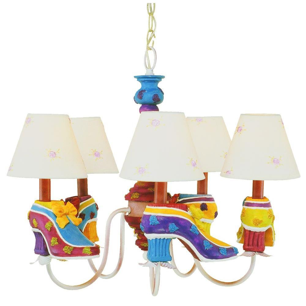 Bel Air Lighting 5-Light Multi Colored Children's Chandelier