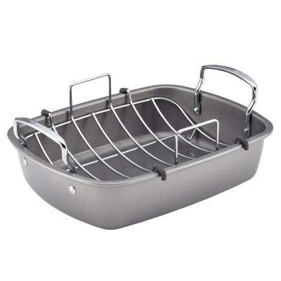 17 in. x 13 in. Nonstick Bakeware Roaster with U-Rack