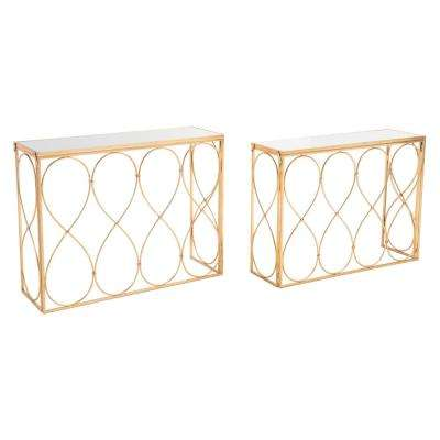 Twist Gold Console Tables