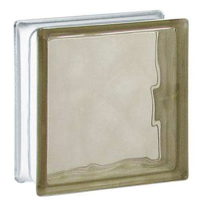 7.75 in. x 7.75 in. x 3.12 in. Bronze Wave Pattern Glass Block (10-Pack)