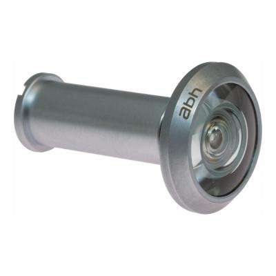 190-Degree Satin Chrome Door Viewer with Mixed Lenses