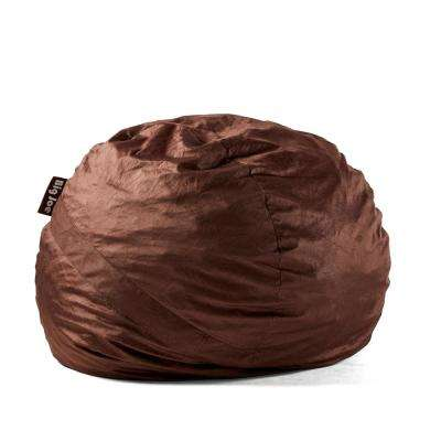 Large FUF Shredded Ahhsome Foam Cocoa Lenox Bean Bag