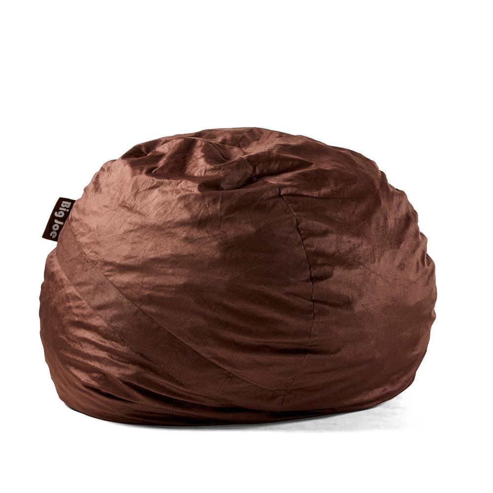 Astounding Large Fuf Shredded Ahhsome Foam Cocoa Lenox Bean Bag Ncnpc Chair Design For Home Ncnpcorg