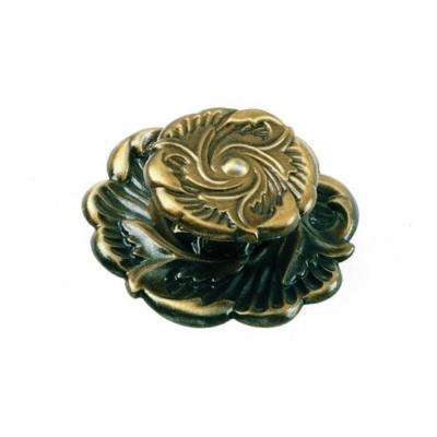Classic Traditions 1-1/2 in. Antique Brass Provincial Cabinet Knob