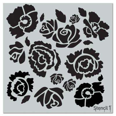 Bouquet Repeat Pattern Stencil