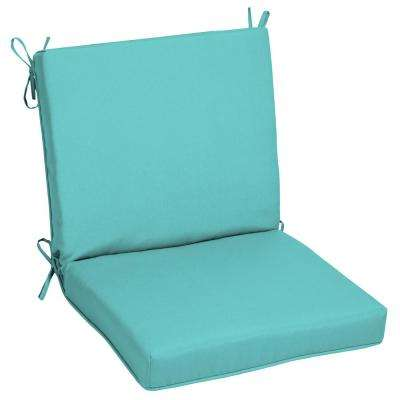 Delightful Sunbrella Canvas Aruba Outdoor Dining Chair Cushion