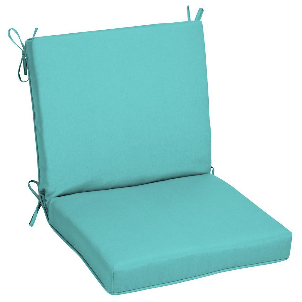 Oak Cliff 22 x 40 Sunbrella Canvas Aruba Mid Back Outdoor Dining Chair Cushion