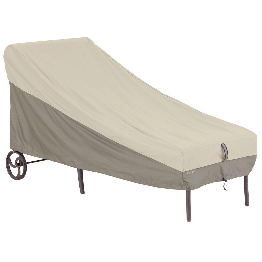 Classic Accessories Belltown Sidewalk Grey Patio Chaise Lounge Cover