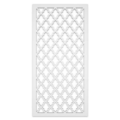 Morocco 2 ft. x 4 ft. White Vinyl Decorative Screen Panel (Pack of 2)
