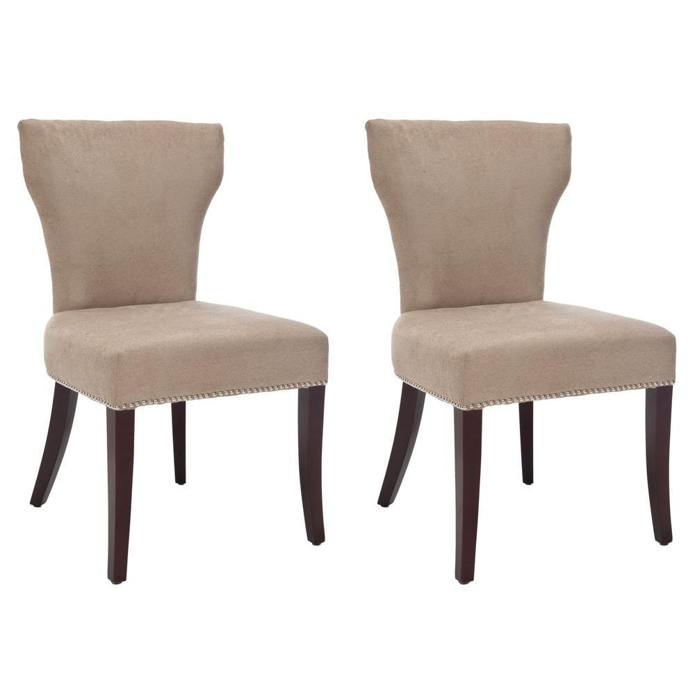Ryan Wheat/Cherry Mahogany Cotton Blend Side Chair (Set of 2)