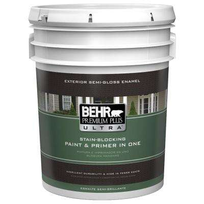 5 gal. Ultra-Pure White Semi-Gloss Enamel Paint and Primer in One
