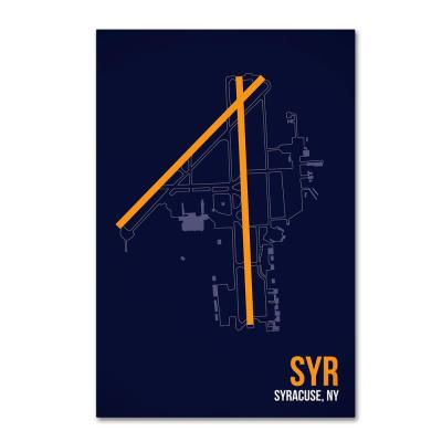 """16 in. x 24 in. """"SYR Airport Layout"""" by 08 Left Canvas Wall Art"""